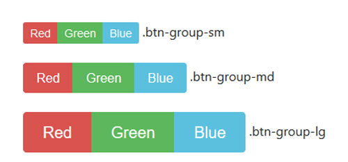 Bootstrap Button Size