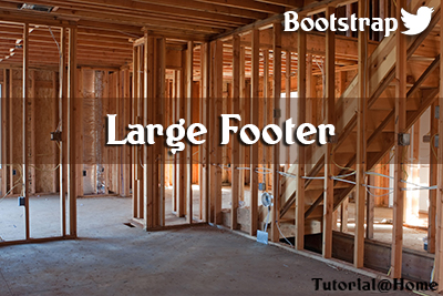 Bootstrap Large Footer