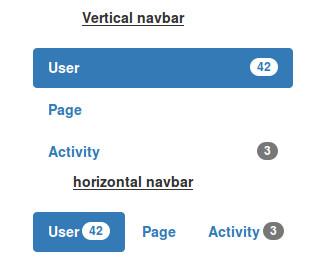 Badges in Vertical Nav Bar