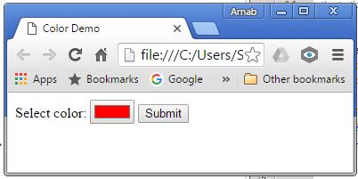 HTML 5 Color Control