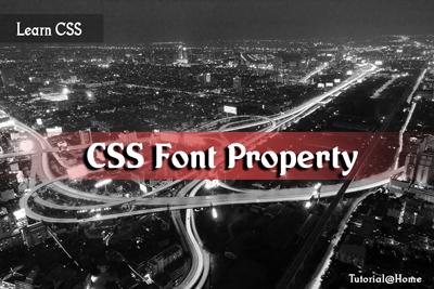 CSS Font property