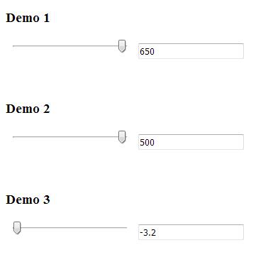 HTML Range Control