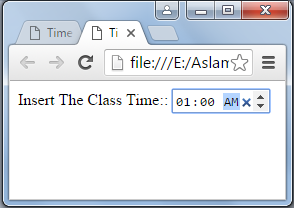 HTML 5 Time Control