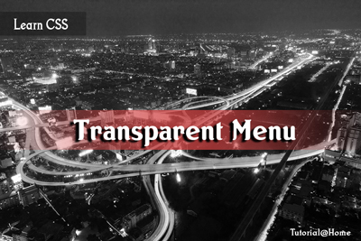 Transparent Menu CSS