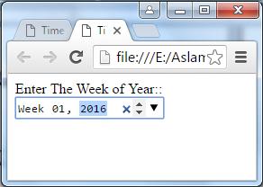 HTML 5 Week Control