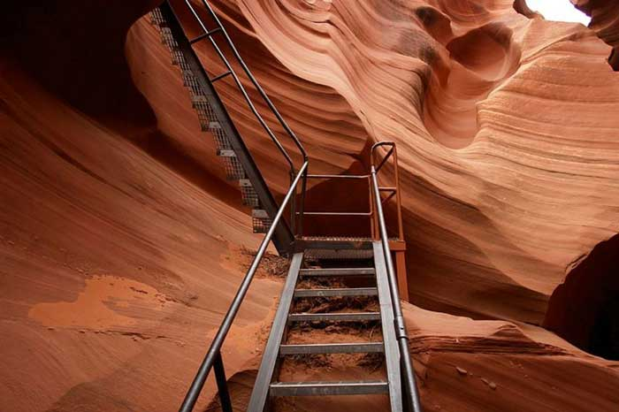 Stair in Antelope Canyon