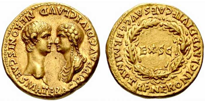 Agrippina's depiction on coinage in Nero's reign