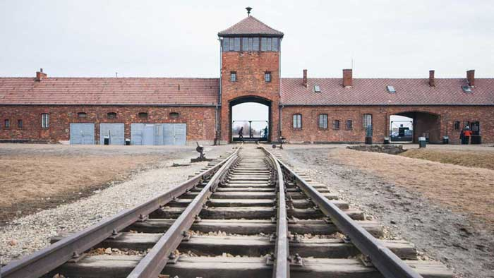 Auschwitz concentration camp frozen in time