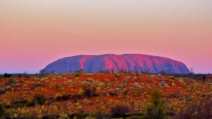 Uluru rock formations