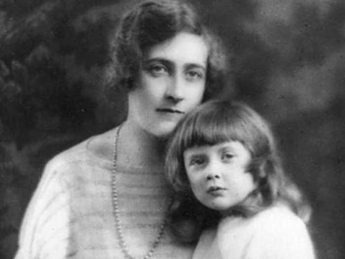 Agatha Christie and her daughter Rosalind