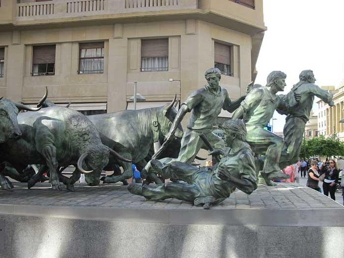 Monument In Pamplona