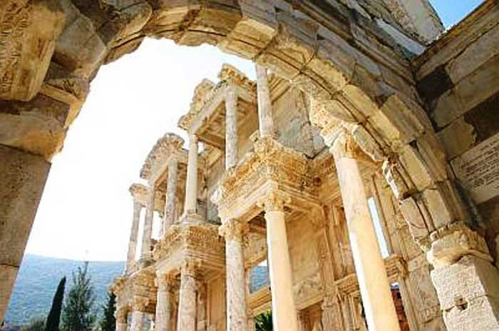 Glimpse of the Library of Celsus