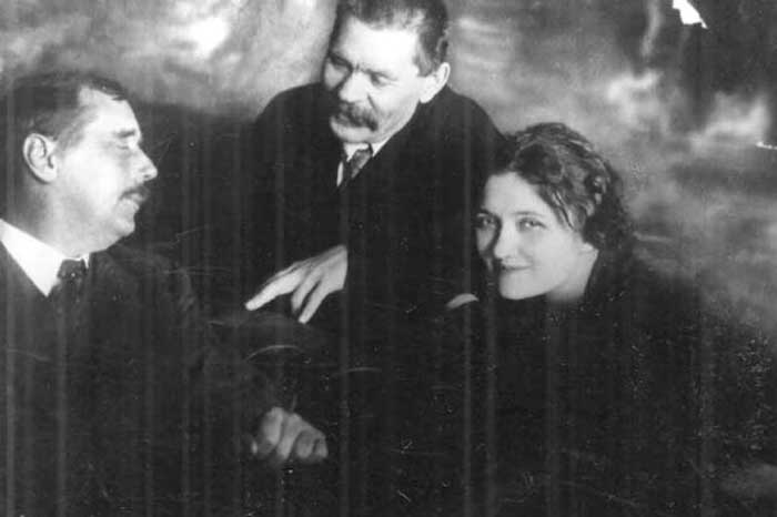Wells with Maxim Gorky and Moura