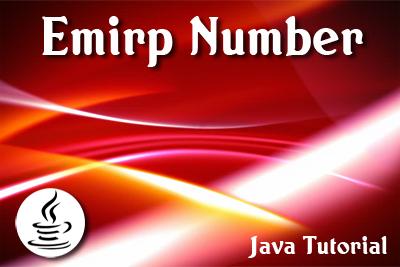 Emirp number Java