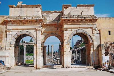 Gate of Augustus in Ephesus Turkey