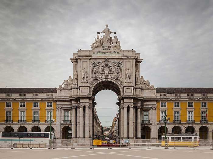 Triumph Arch in Rua Augusta, Lisbon