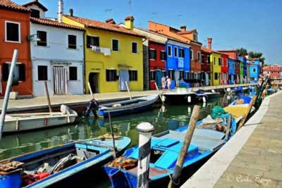 Brightly Painted Burano