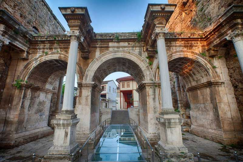 Hadrian's Gate in Antalya, Turkey