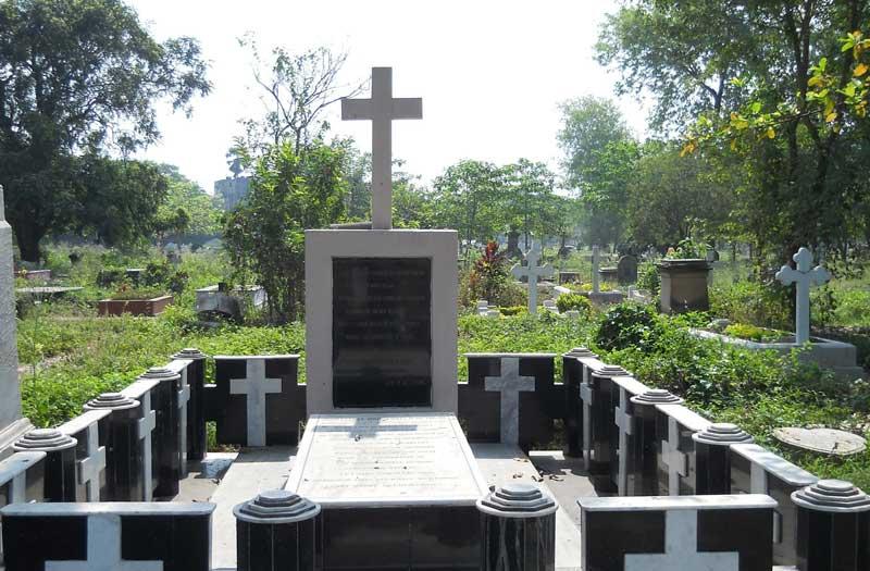 Last resting place of J.E.D.Bethune