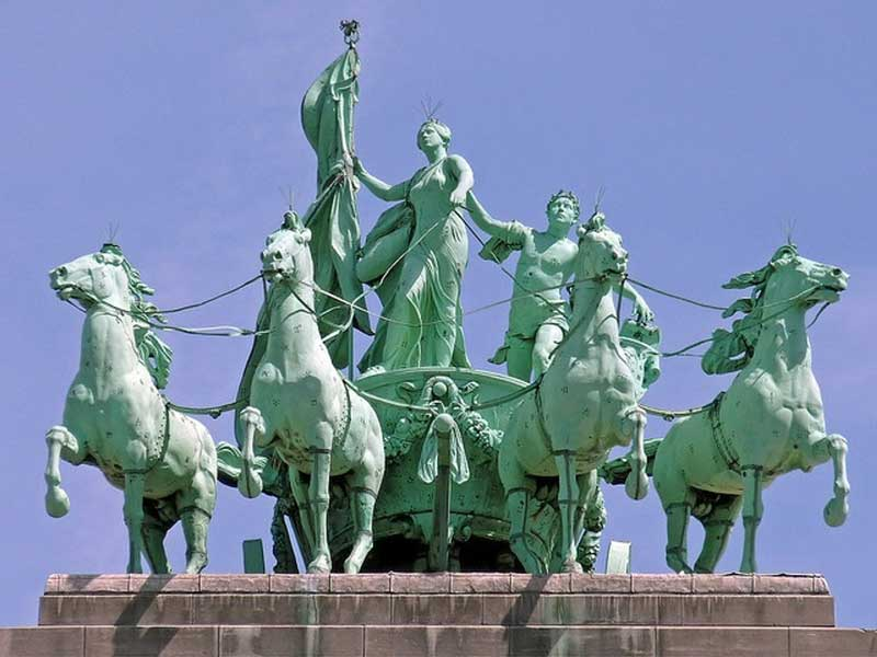 The Quadriga on the top of the arch