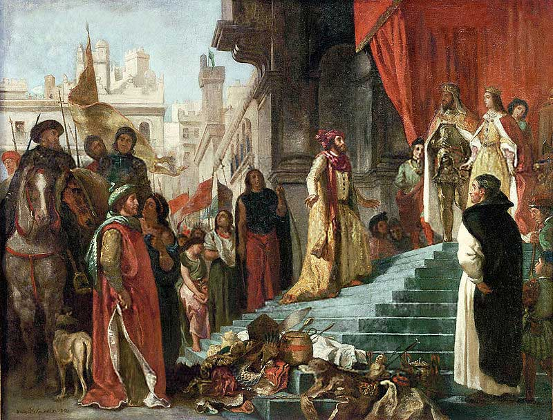 Columbus in the court of Isabella