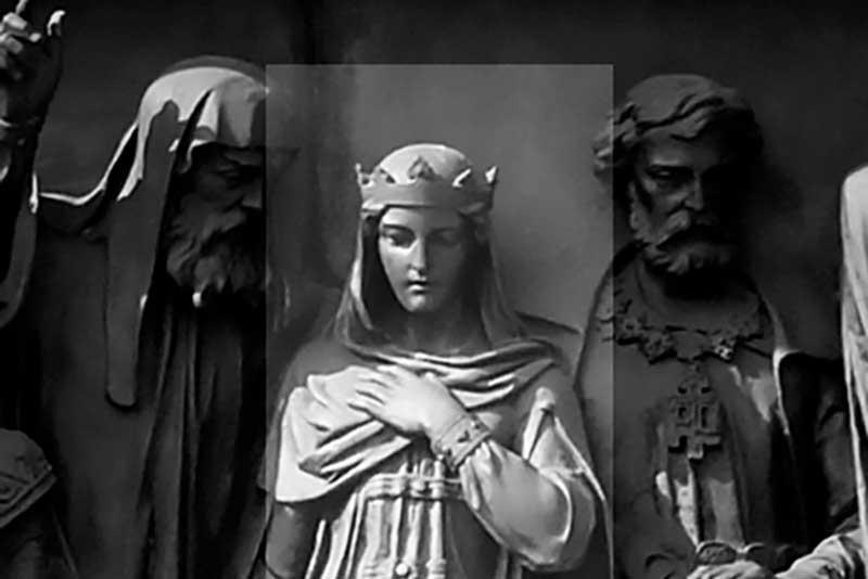 Anastasia Romanova Zakharyina-Yurieva, on the Monument 'Millennium of Russia'.