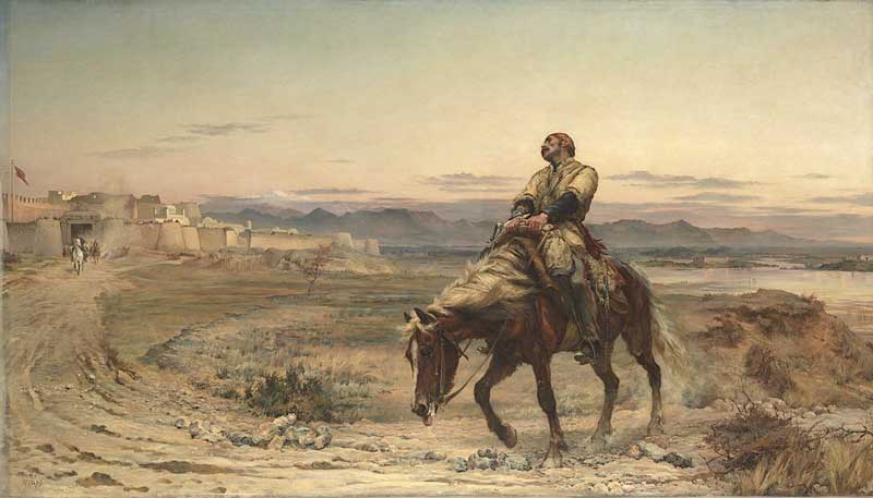 The arrival of William Brydon at Jalalabad on 13 January 1842.
