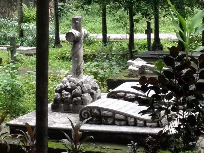 Greek Cemetery At Calcutta