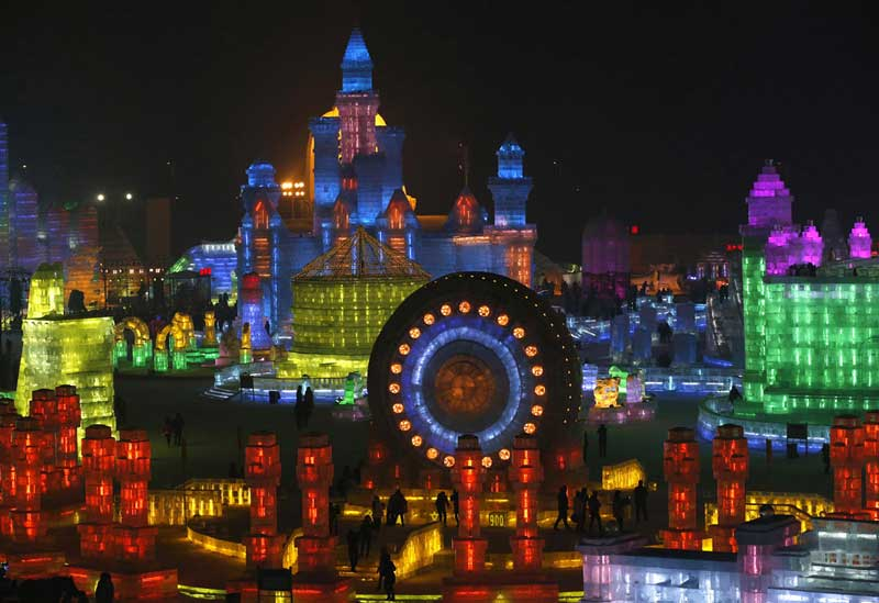 Harbin Ice And Now Sculpture