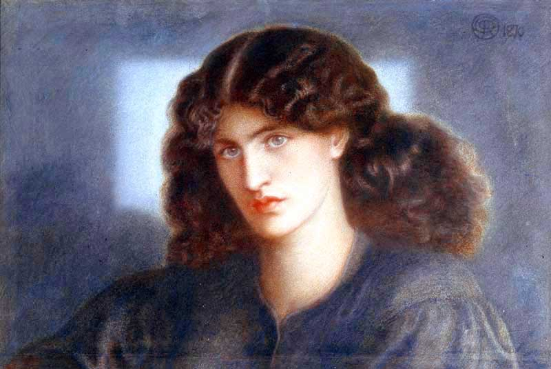 La Donna della Finestra (detail 1871) - model Jane Morris