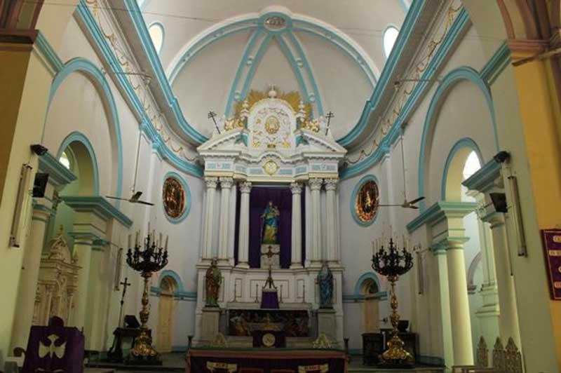 Inside the Portuguese Church, Calcutta