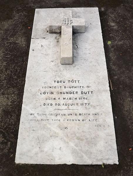 Tombstone of Poetess Toru Dutt