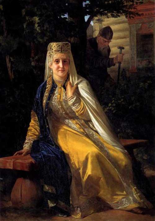 Vasilisa Melentyeva, portrait by Nikolai Nevrev
