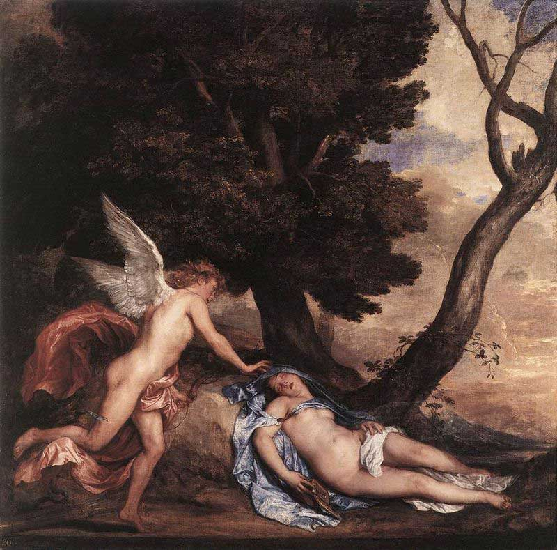 Psyche and Cupid by Anthony van Dyck [Flemish 1599-1641]