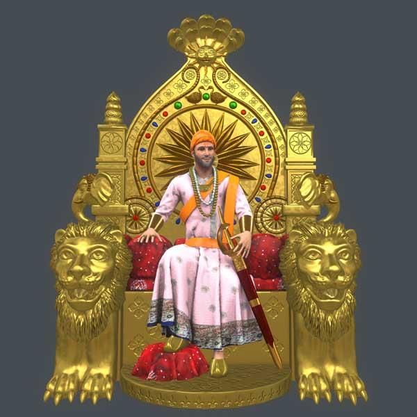 Golden Throne of Chhatrapati Shivaji