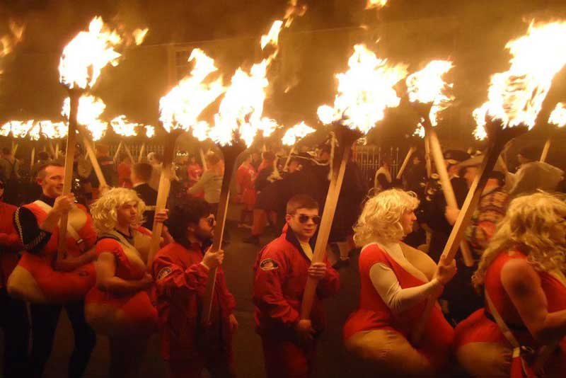 The Yule torch procession