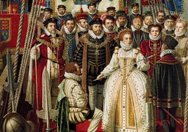 Elizabeth knighting Drake