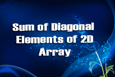 Diagonal 2d Array