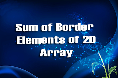 Border elements 2D Array