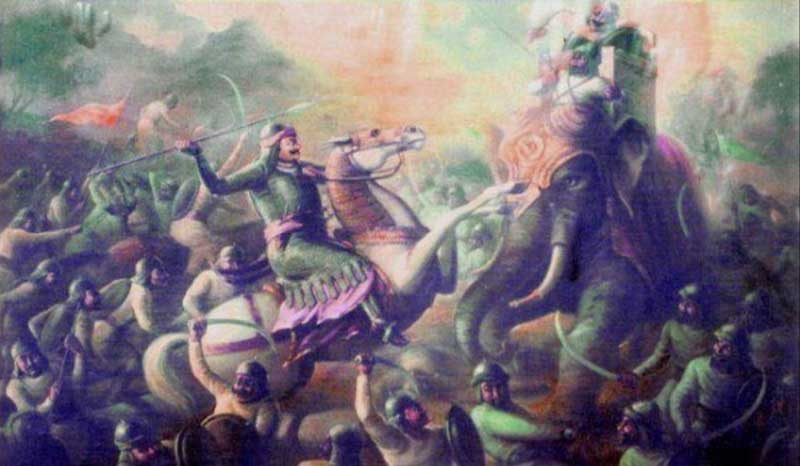 Rana Protap in the Battle of Haldighati