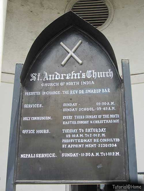 St.  Andrews Church - The Information Board