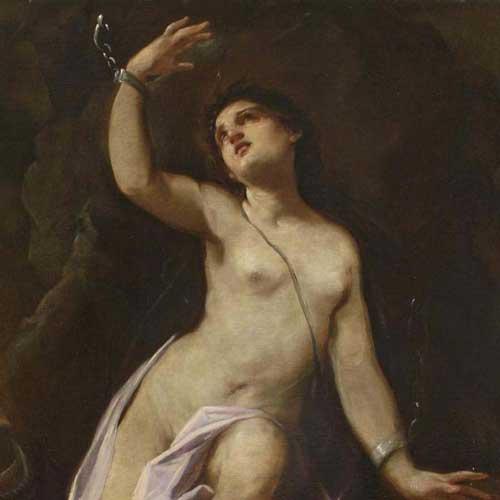 Giovanni Antonio Burrini [1656-1727] - Andromeda chained to the rocks.