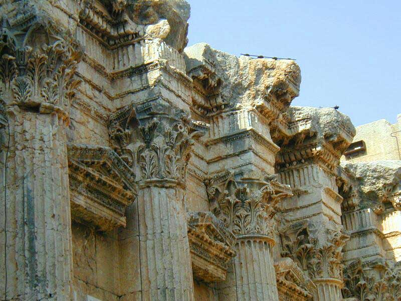 Pillars of the temple of Bacchus