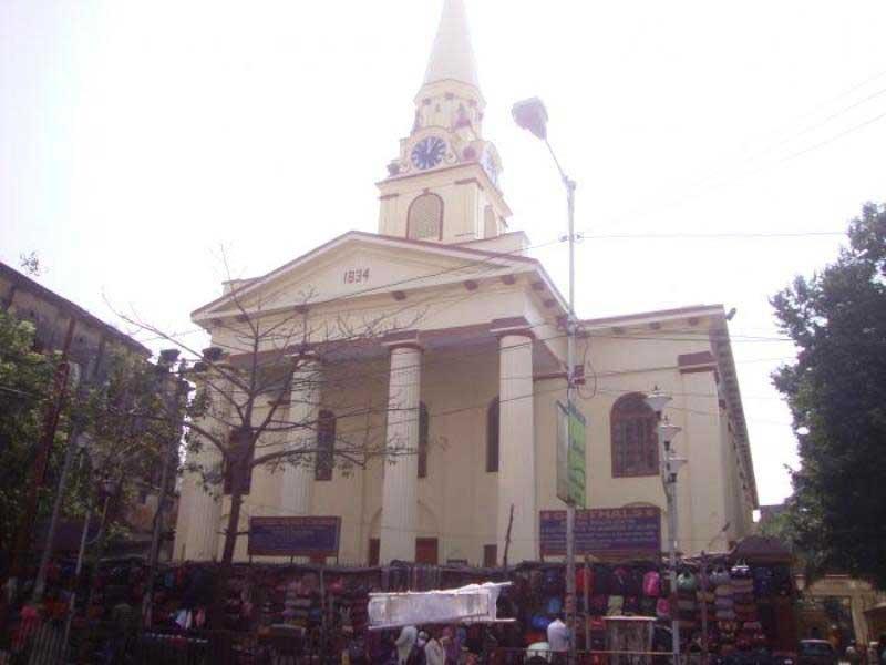The Sacred Heart Church on Lenin Sarani.