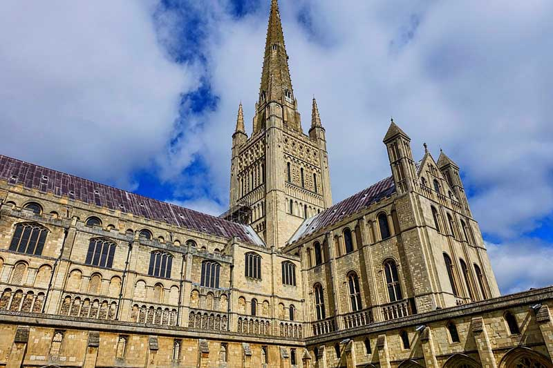 The Norwich Cathedral in England