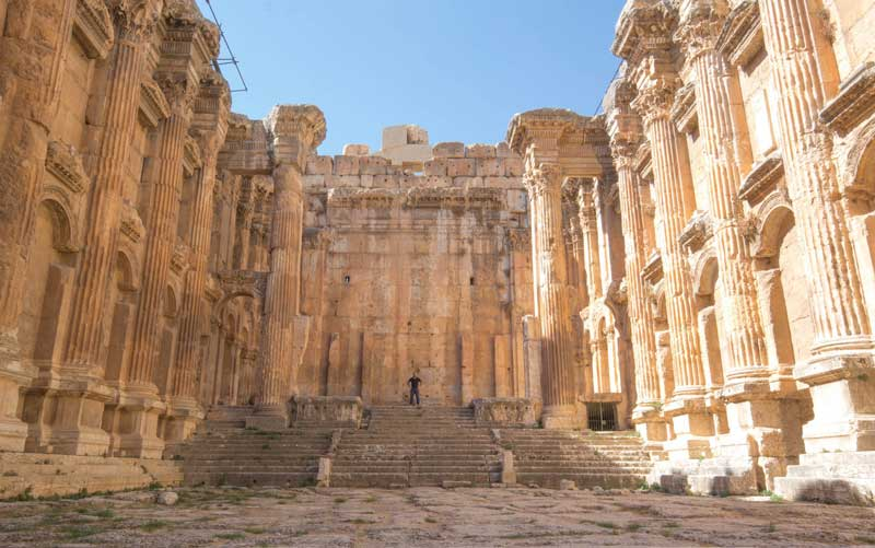 The ruins of Baalbek