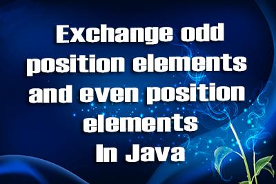 Java Exchange Position Elements