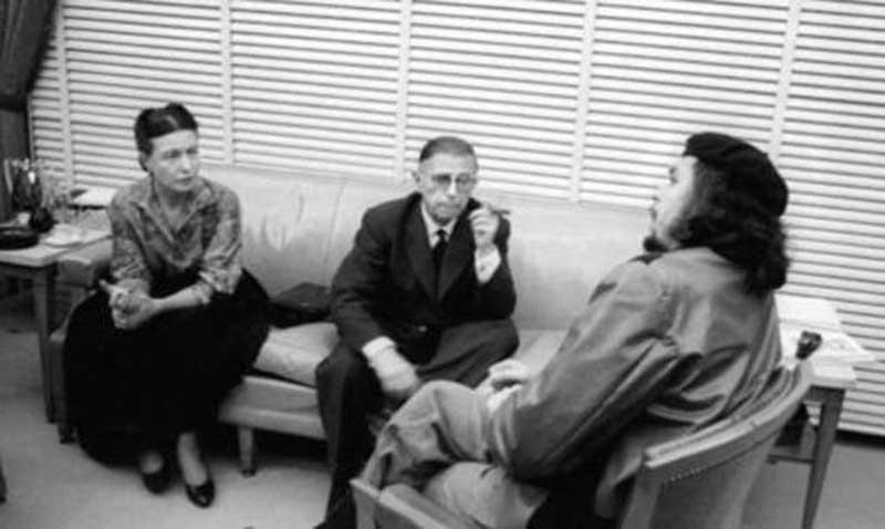 Simone, Sartre and Che Guevara in Cuba, 1960