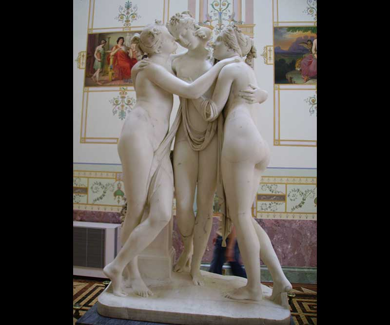 The Three Graces in the Hermitage Museum