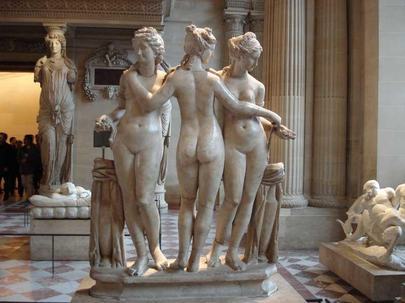 Copy of the Three Graces in Louvre Museum, Paris